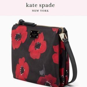 NWT Kate Spade Wilson poppy crossbody bag